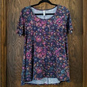 LulaRoe Floral Print Perfect T